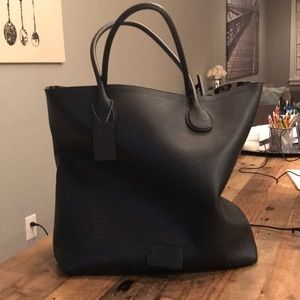 Large, pebbled leather Coach bag